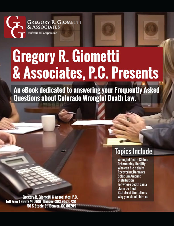 Colorado Wrongful Death Attorneys FAQ eBook